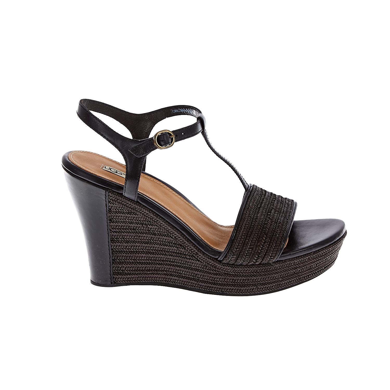 UGG AUSTRALIA - Γυναικείες πλατφόρμες UGG FITCHIE μαύρες γυναικεία παπούτσια πλατφόρμες