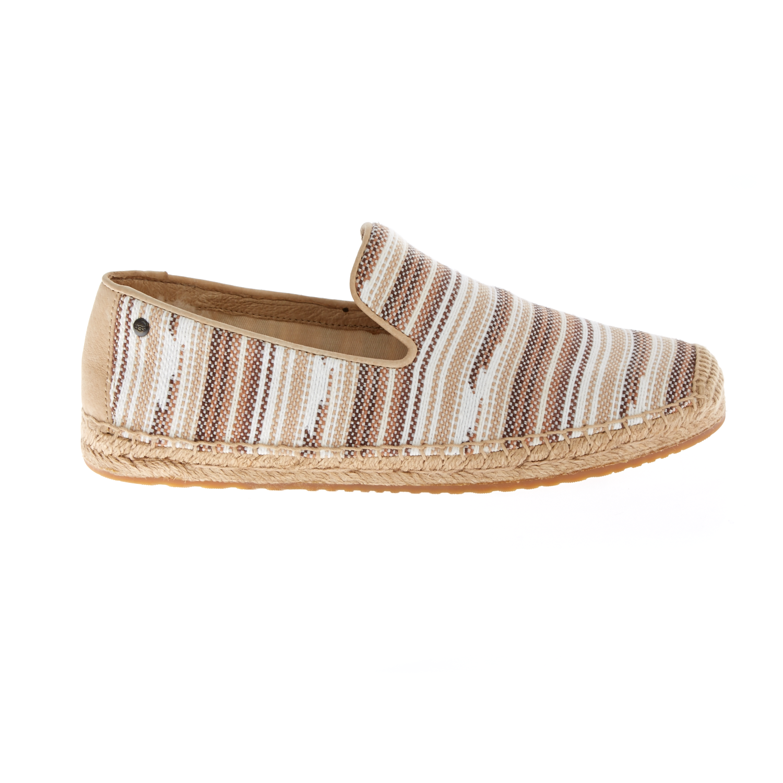 UGG AUSTRALIA - Γυναικείες εσπαντρίγιες UGG SANDRINNE ριγέ γυναικεία παπούτσια μπότες μποτάκια μπότες