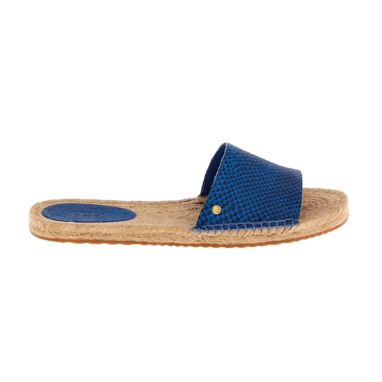 UGG AUSTRALIA - Γυναικεία flat mules UGG CHERRY EXOTIC μπλε γυναικεία παπούτσια σανδάλια