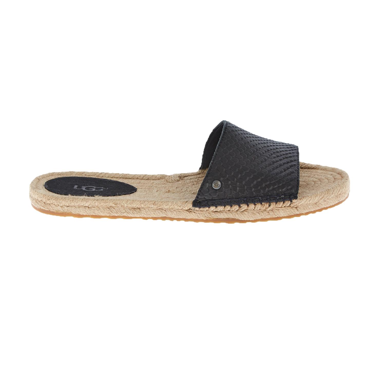 UGG AUSTRALIA - Γυναικεία flat mules UGG CHERRY EXOTIC μαύρα γυναικεία παπούτσια σανδάλια