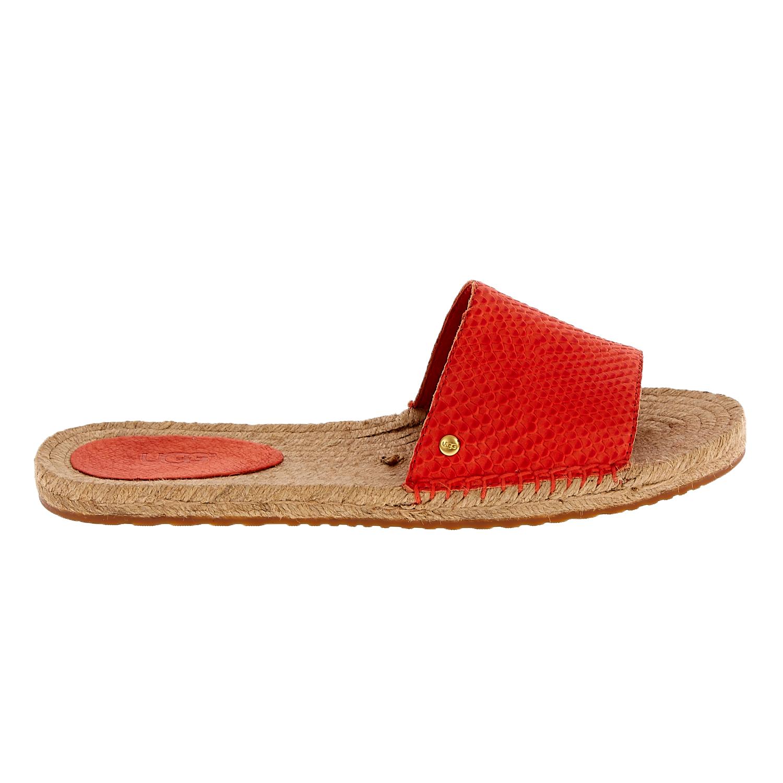 UGG AUSTRALIA - Γυναικεία flat mules UGG CHERRY EXOTIC κόκκινα γυναικεία παπούτσια σανδάλια