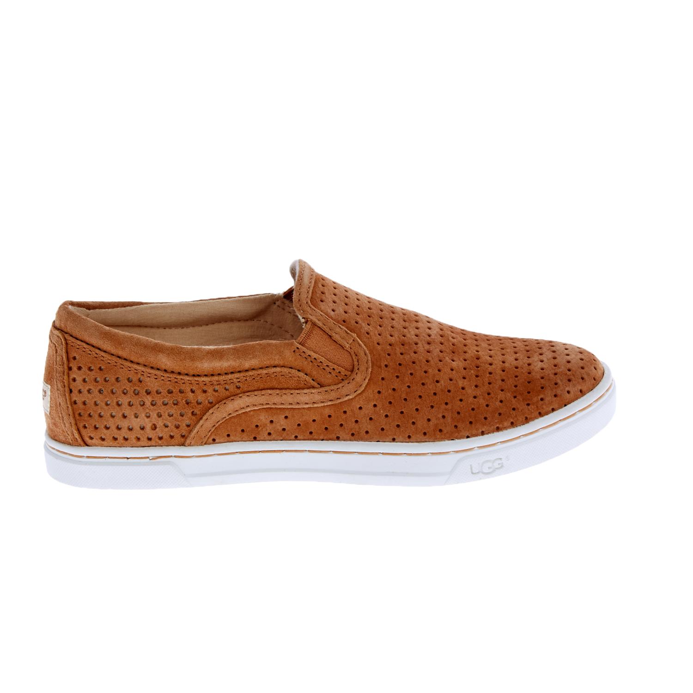 UGG AUSTRALIA - Γυναικεία slip-on sneakers UGG FIERCE GEO καφέ γυναικεία παπούτσια μοκασίνια μπαλαρίνες μοκασίνια