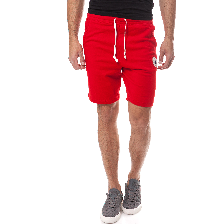 CONVERSE - Ανδρική βερμούδα Converse κόκκινη ανδρικά ρούχα σορτς βερμούδες αθλητικά