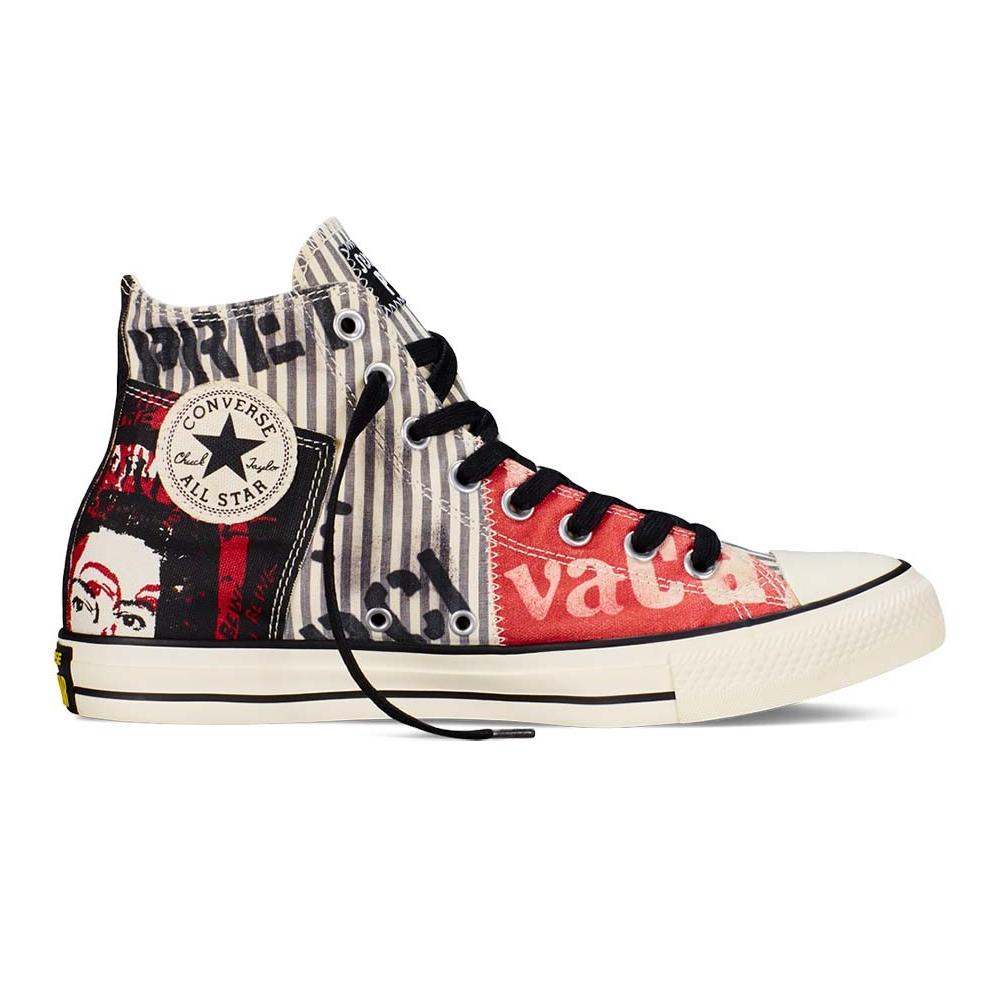530ce68bfc8 CONVERSE - Unisex παπούτσια Chuck Taylor All Star Hi μαύρα-κόκκινα ...