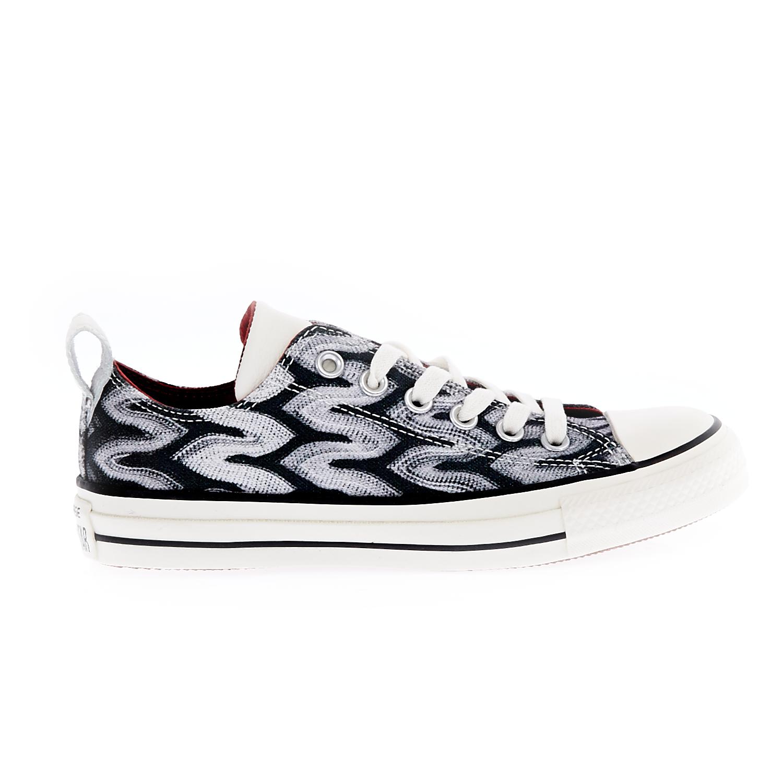 CONVERSE – Unisex παπούτσια Chuck Taylor All Star Ox Missoni μαύρα-λευκά