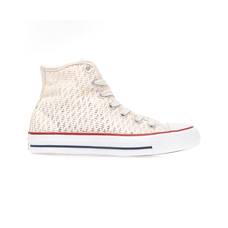 CONVERSE - Γυναικεία παπούτσια Chuck Taylor All Star Hi εκρού γυναικεία παπούτσια sneakers
