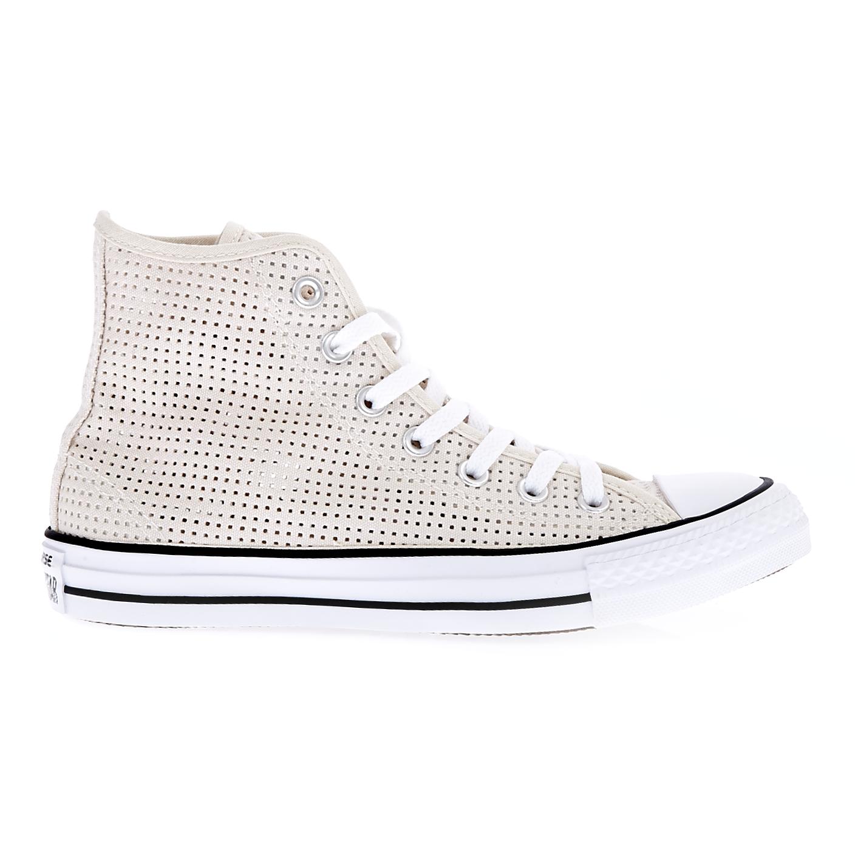6408395278d CONVERSE – Γυναικεία παπούτσια Chuck Taylor All Star Hi μπεζ. Factory Outlet
