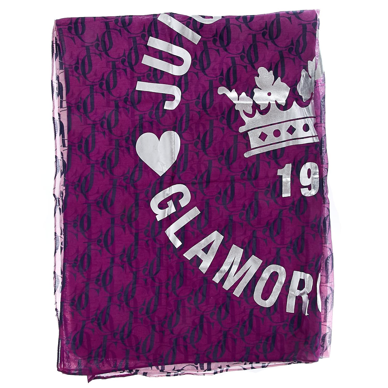 JUICY COUTURE - Φουλάρι Juicy Couture μωβ γυναικεία αξεσουάρ φουλάρια κασκόλ γάντια