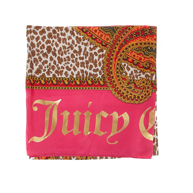 JUICY COUTURE - Φουλάρι Juicy Couture φούξια-μπεζ γυναικεία αξεσουάρ φουλάρια κασκόλ γάντια