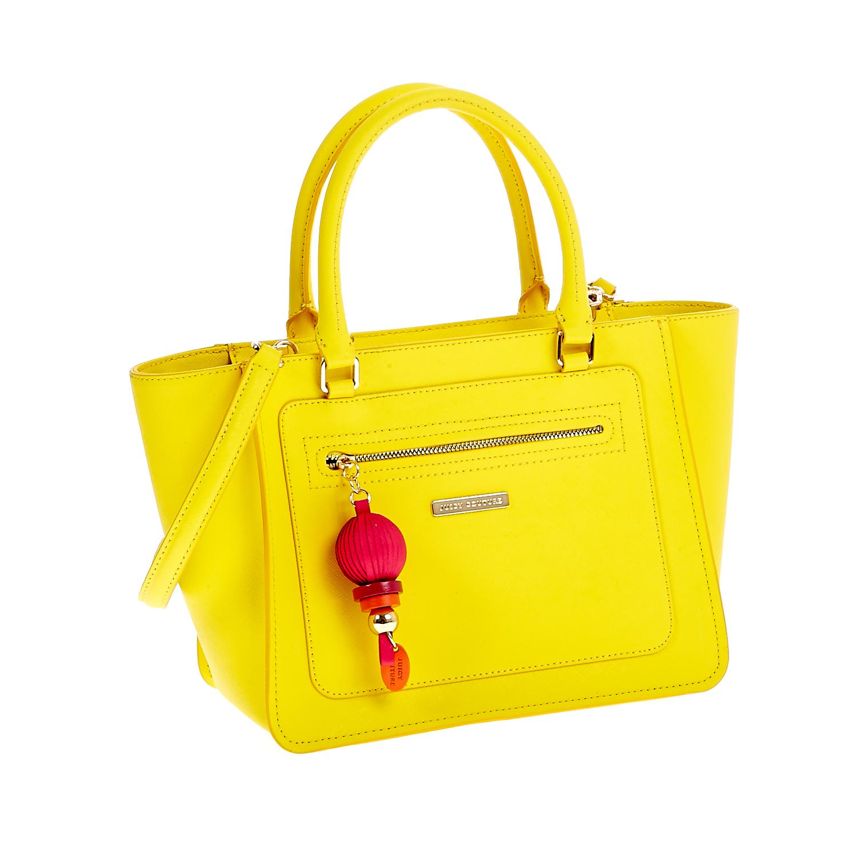 JUICY COUTURE - Γυναικεία τσάντα Juicy Couture κίτρινη γυναικεία αξεσουάρ τσάντες σακίδια χειρός