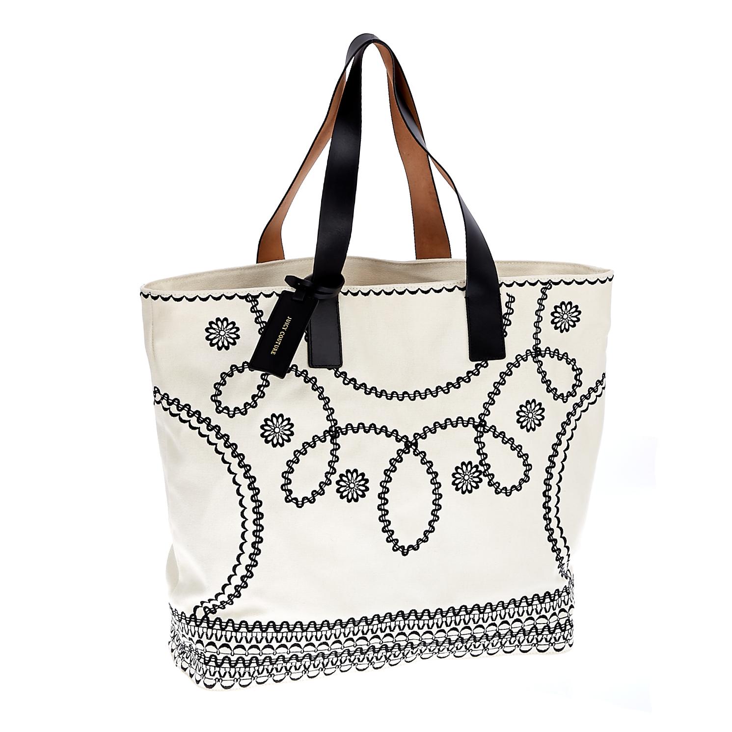 JUICY COUTURE - Γυναικεία τσάντα Juicy Couture μπεζ γυναικεία αξεσουάρ τσάντες σακίδια ωμου