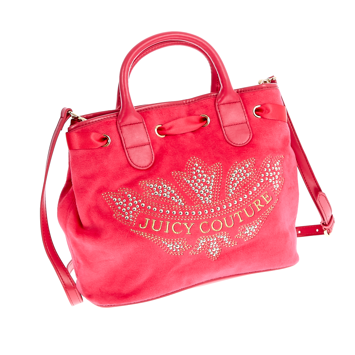 JUICY COUTURE - Γυναικεία τσάντα Juicy Couture κόκκινη-φούξια γυναικεία αξεσουάρ τσάντες σακίδια χειρός