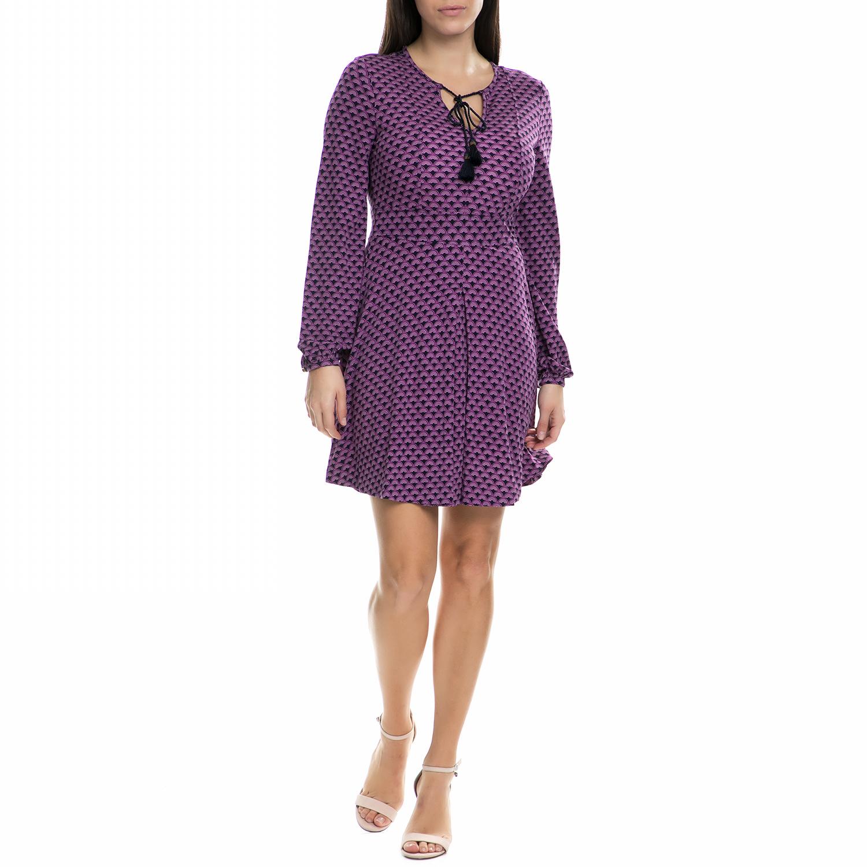 JUICY COUTURE - Γυναικείο μίνι φόρεμα Juicy Couture μοβ με print γυναικεία ρούχα φορέματα μίνι