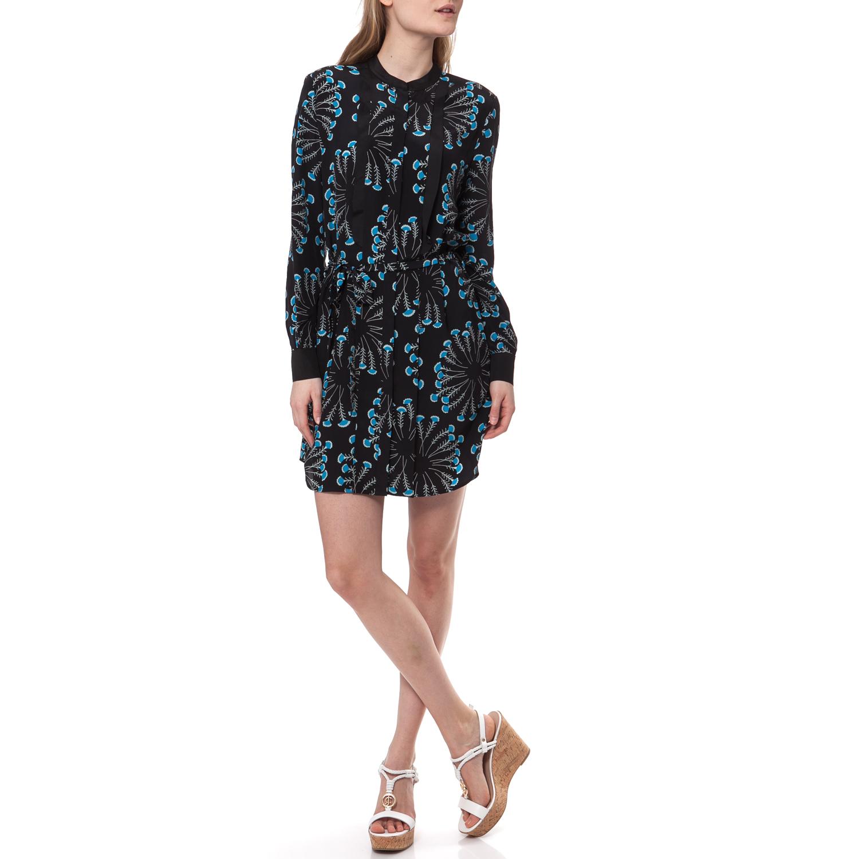 JUICY COUTURE - Γυναικείο φόρεμα SEA SPRAY FLORAL μπλε-μαύρο γυναικεία ρούχα φορέματα μίνι