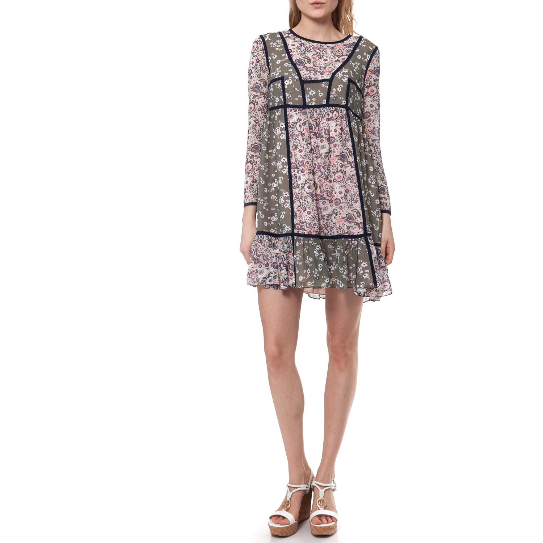 JUICY COUTURE - Γυναικείο φόρεμα Juicy Couture μπεζ-ροζ γυναικεία ρούχα φορέματα μίνι