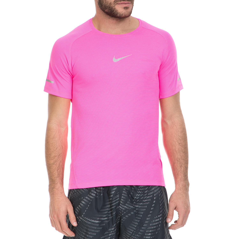 NIKE - Ανδρική αθλητική μπλούζα NIKE DF AEROREACT ροζ ανδρικά ρούχα αθλητικά t shirt