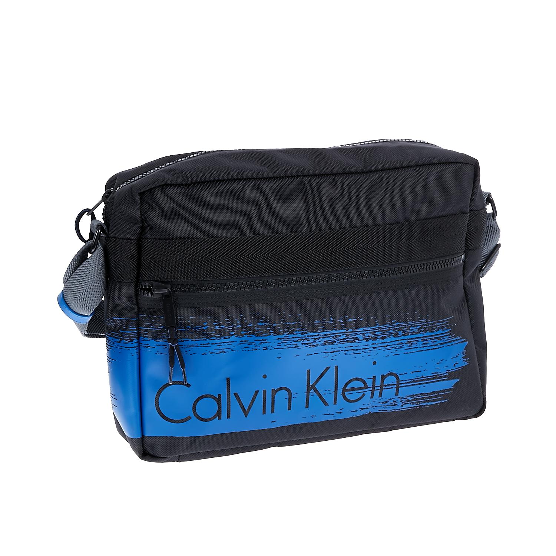 CALVIN KLEIN JEANS - Τσάντα Calvin Klein Jeans μαύρη-μπλε ανδρικά αξεσουάρ τσάντες σακίδια ταχυδρόμου