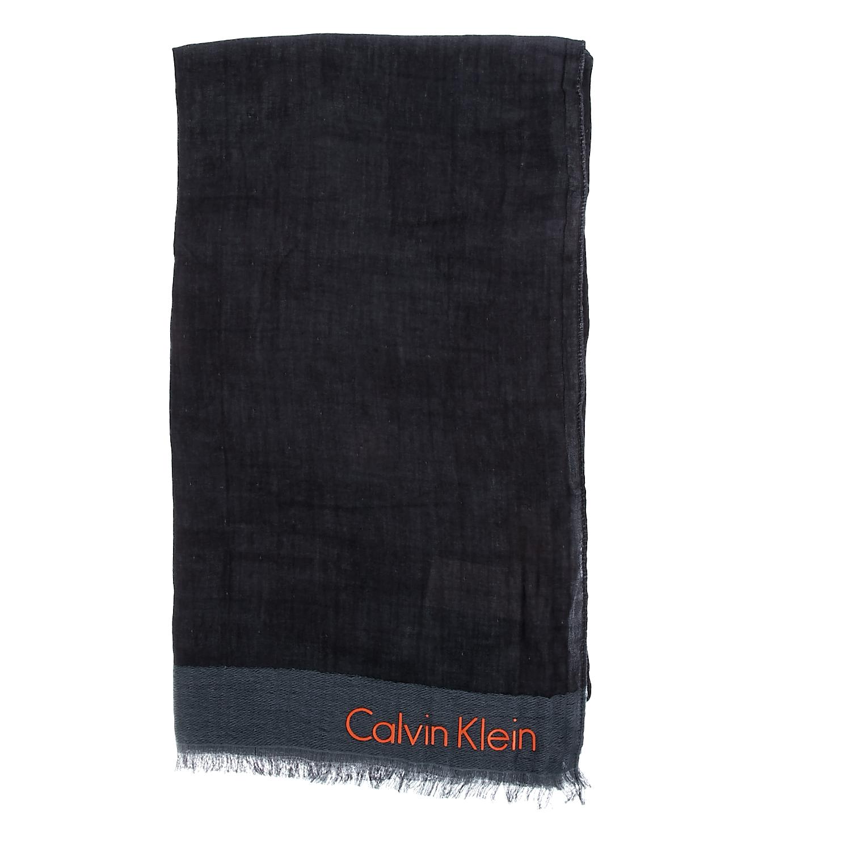 CALVIN KLEIN JEANS - Ανδρικό φουλάρι Calvin Klein Jeans μαύρο-γκρι ανδρικά αξεσουάρ φουλάρια κασκόλ γάντια
