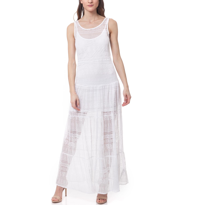 GUESS - Γυναικείο φόρεμα Guess λευκό γυναικεία ρούχα φορέματα μάξι