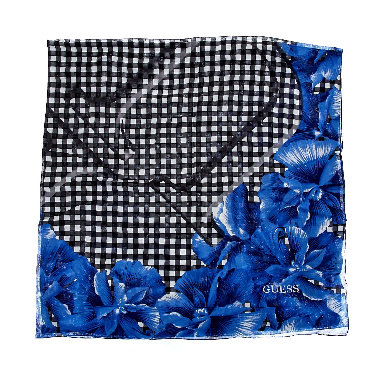 GUESS - Φουλάρι Guess μπλε γυναικεία αξεσουάρ φουλάρια κασκόλ γάντια