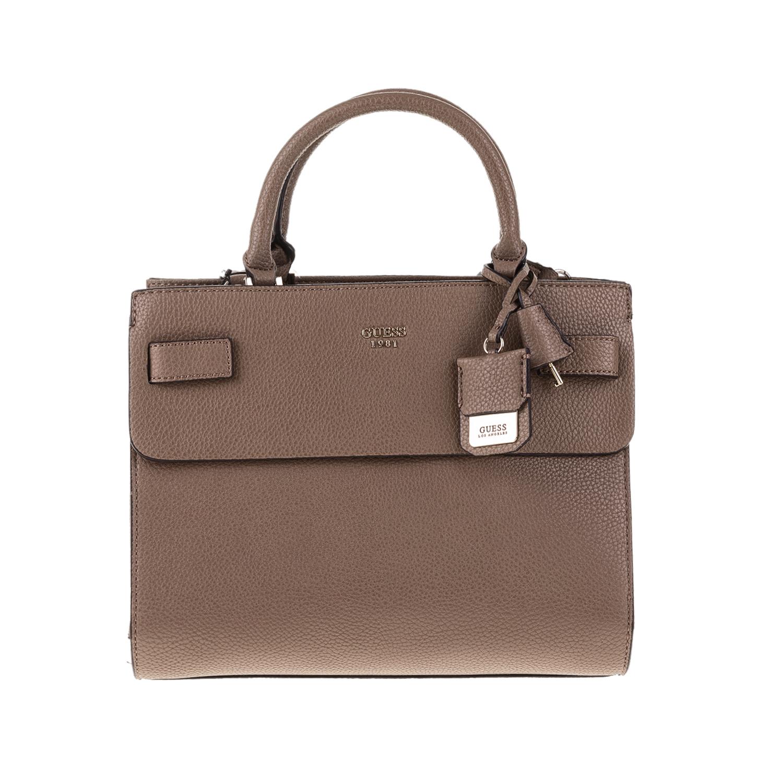 GUESS – Γυναικεία τσάντα χειρός CATE GUESS μπεζ