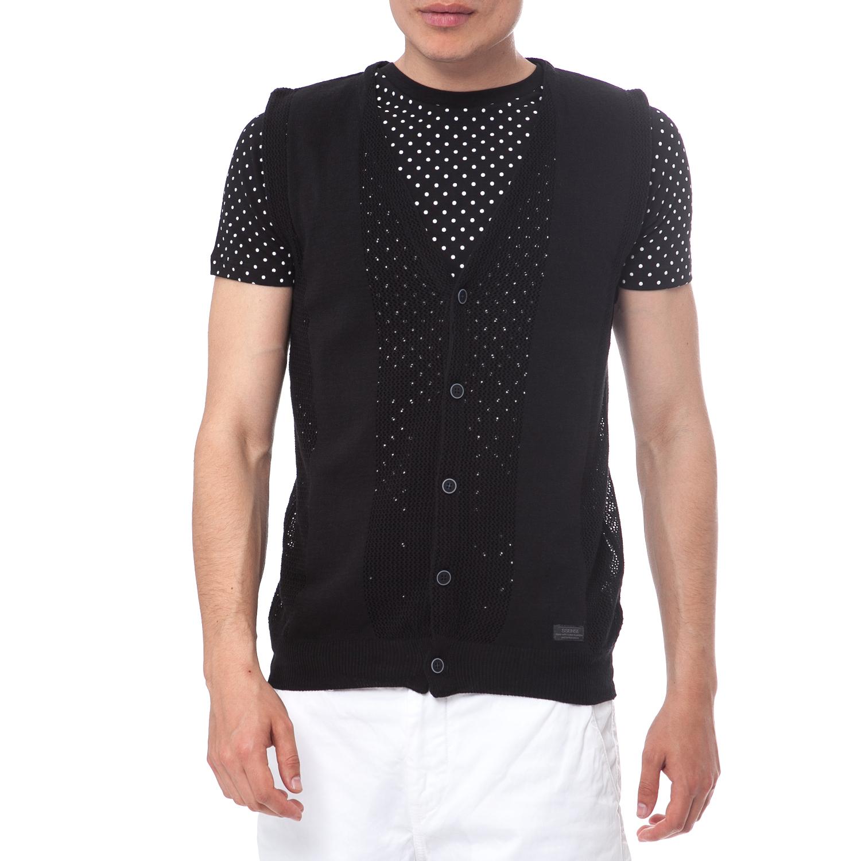 SSEINSE - Ανδρικό γιλέκο SSEINSE μαύρο ανδρικά ρούχα πλεκτά ζακέτες ζακέτες