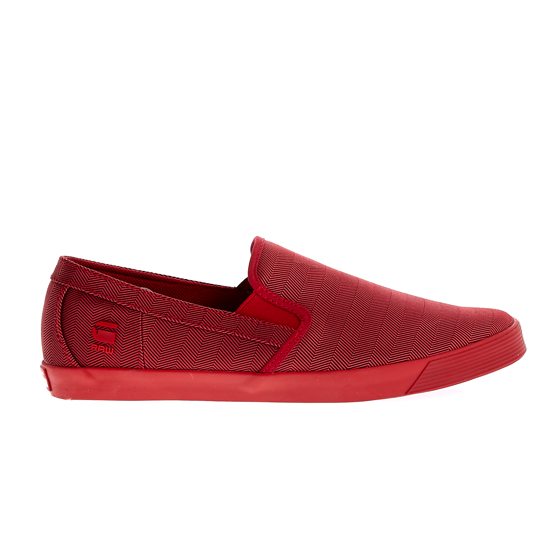 G-STAR RAW - Ανδρικά παπούτσια G-Star Raw κόκκινα ανδρικά παπούτσια μοκασίνια loafers