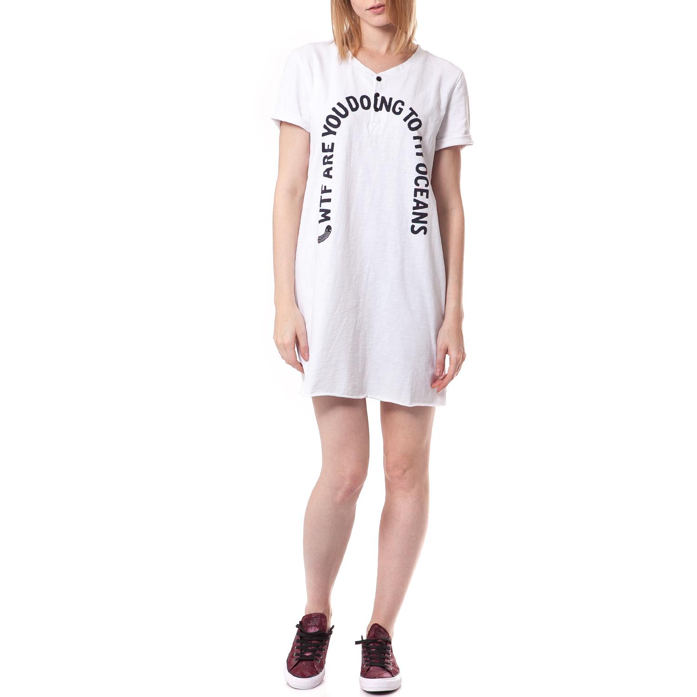 a6c8d1b0a952 G-STAR RAW - Γυναικείο φόρεμα G-Star Raw λευκό ⋆ egynaika.gr