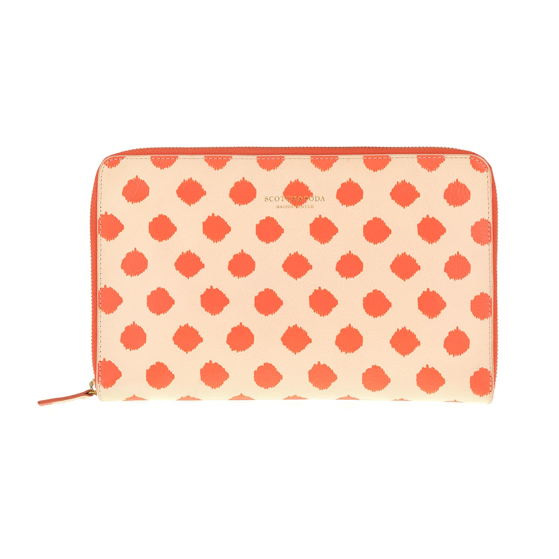 SCOTCH & SODA – Clutch SCOTCH & SODA πορτοκαλί με πουά μοτίβο 1453637.0-00K1