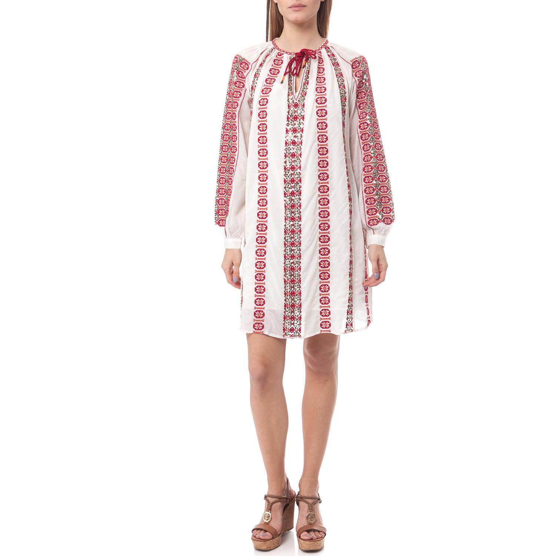 MAISON SCOTCH - Φόρεμα Maison Scotch λευκό-κόκκινο γυναικεία ρούχα φορέματα μίνι