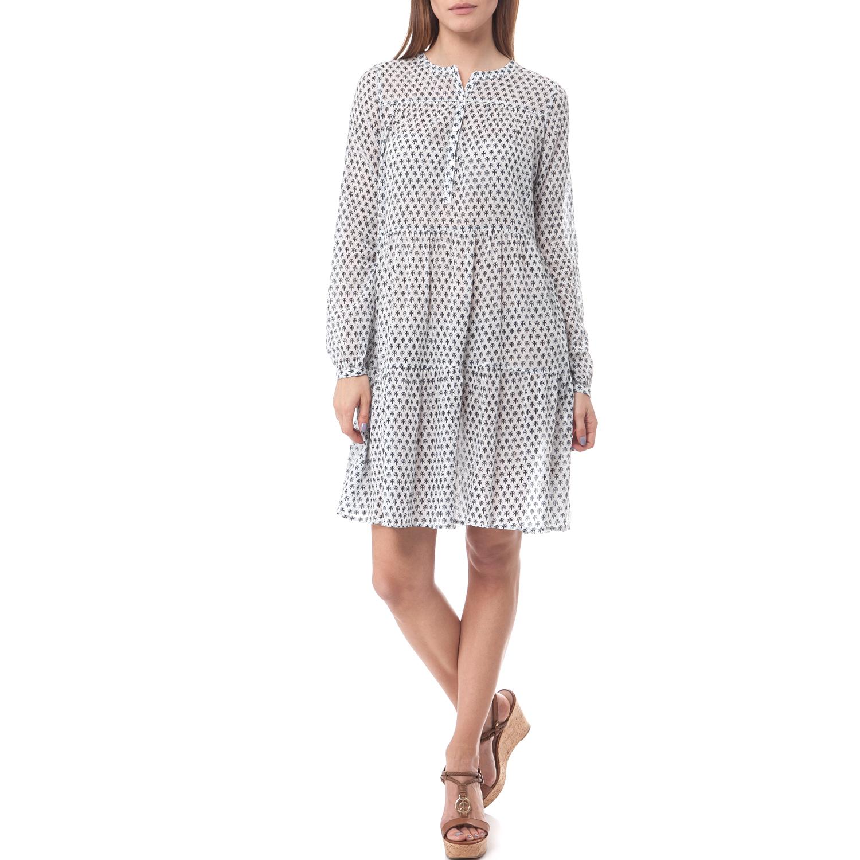 MAISON SCOTCH - Φόρεμα Maison Scotch λευκό-μπλε γυναικεία ρούχα φορέματα μίνι