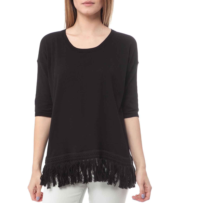 SCOTCH & SODA - Γυναικεία μπλούζα Maison Scotch μαύρη γυναικεία ρούχα πλεκτά ζακέτες πουλόβερ