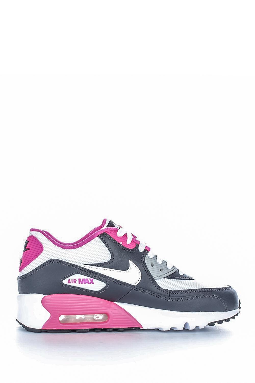 NIKE – Παιδικά αθλητικά παπούτσια NIKE AIR MAX 90 MESH (PS) λευκά-γκρι