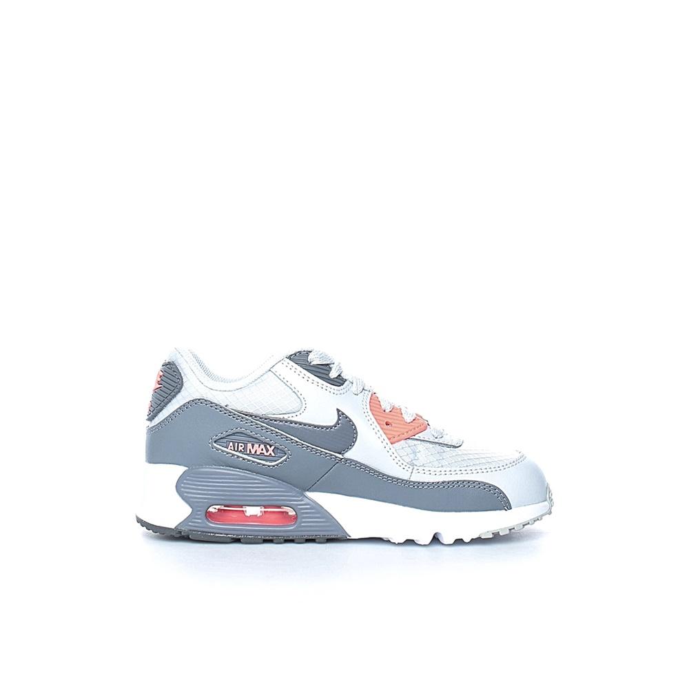 NIKE – Κοριτσίστικα αθλητικά παπούτσια NIKE AIR MAX 90 MESH (PS) γκρι-λευκά
