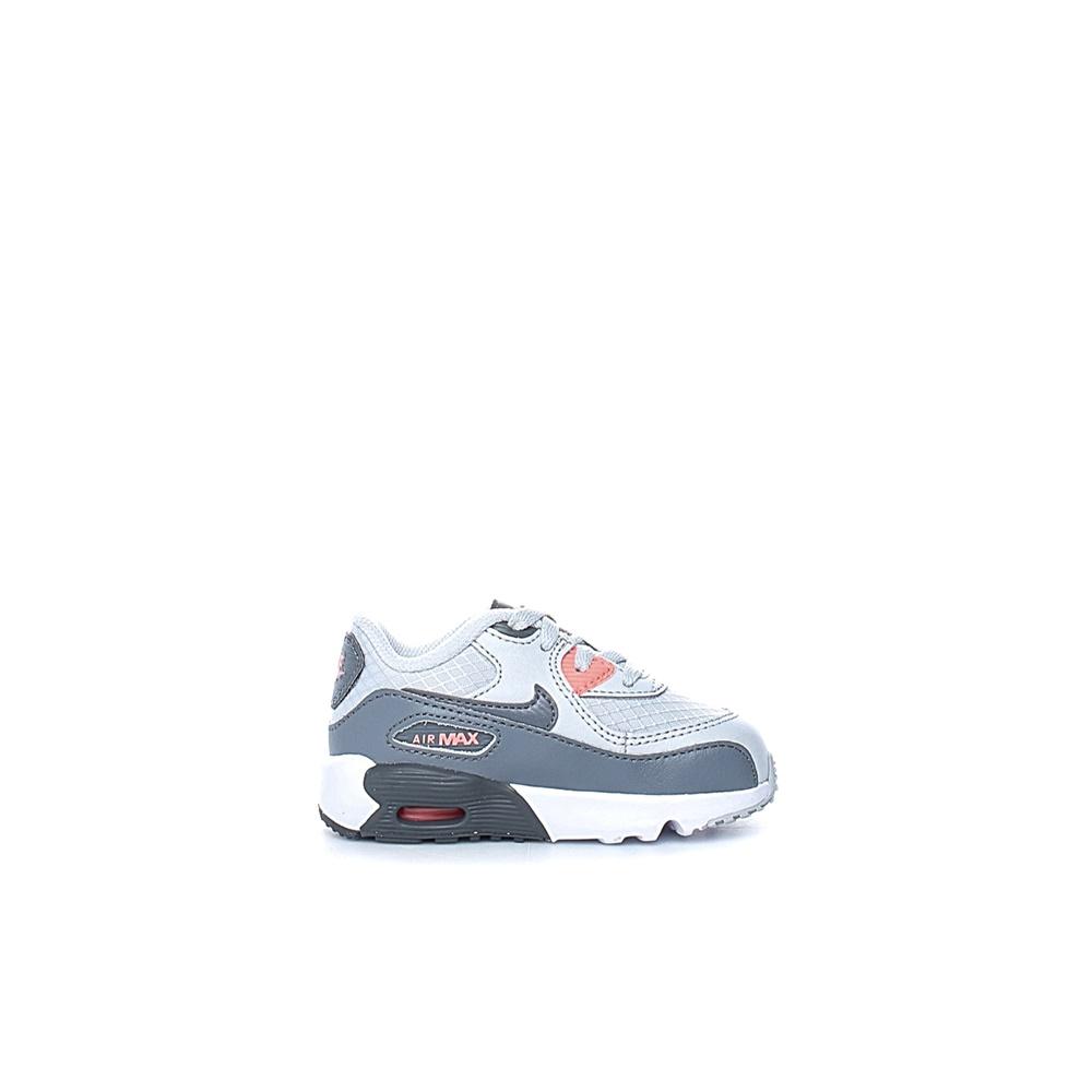 NIKE – Βρεφικά αθλητικά παπούτσια NIKE AIR MAX 90 MESH (PS) λευκά-γκρι