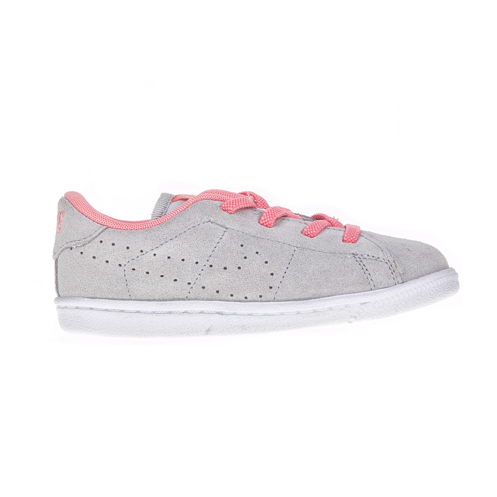 NIKE – Βρεφικά παπούτσια NIKE TENNIS CLASSIC PRM γκρι – ροζ