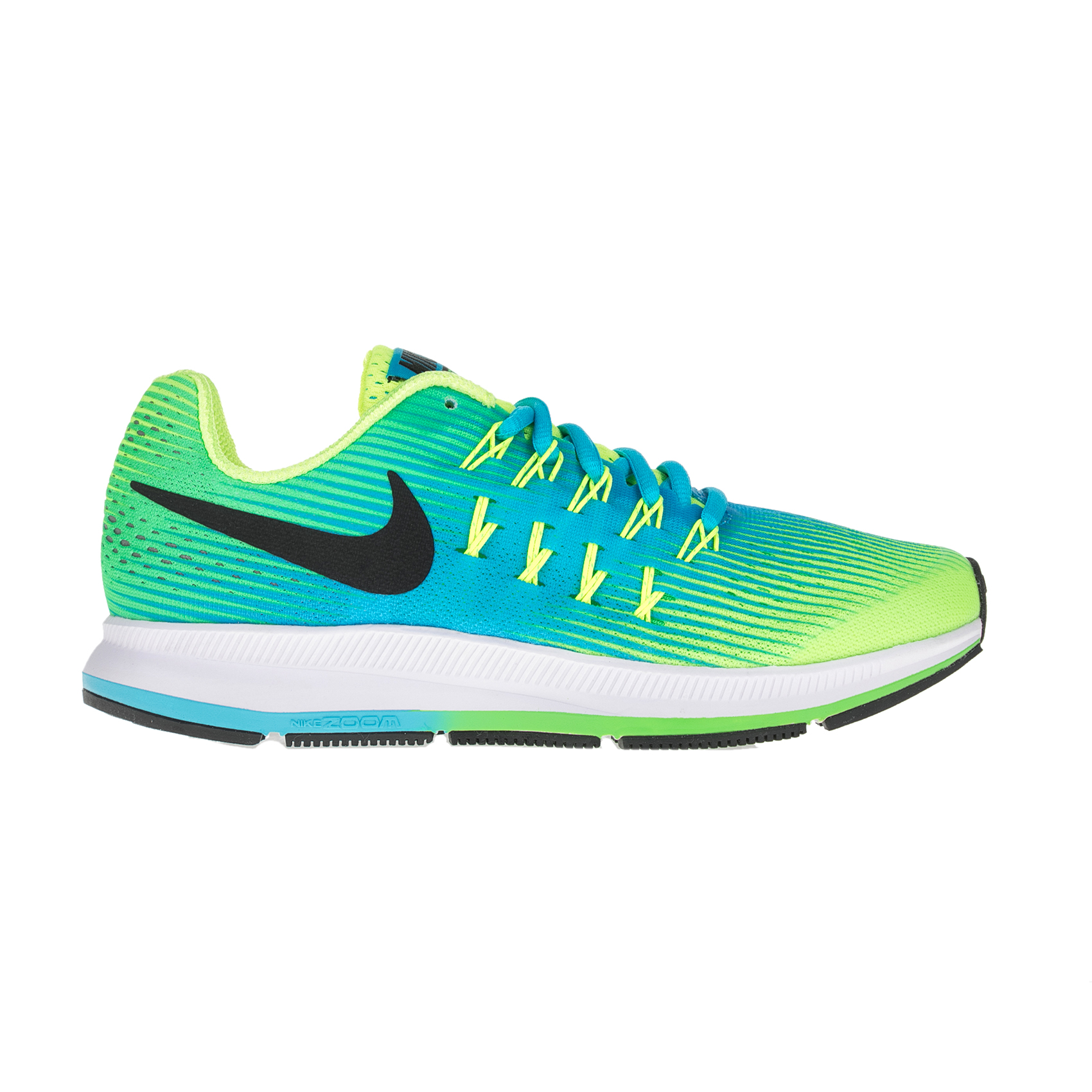 NIKE – Παιδικά αθλητικά παπούτσια NIKE ZOOM PEGASUS 33 (GS) πράσινα – κίτρινα