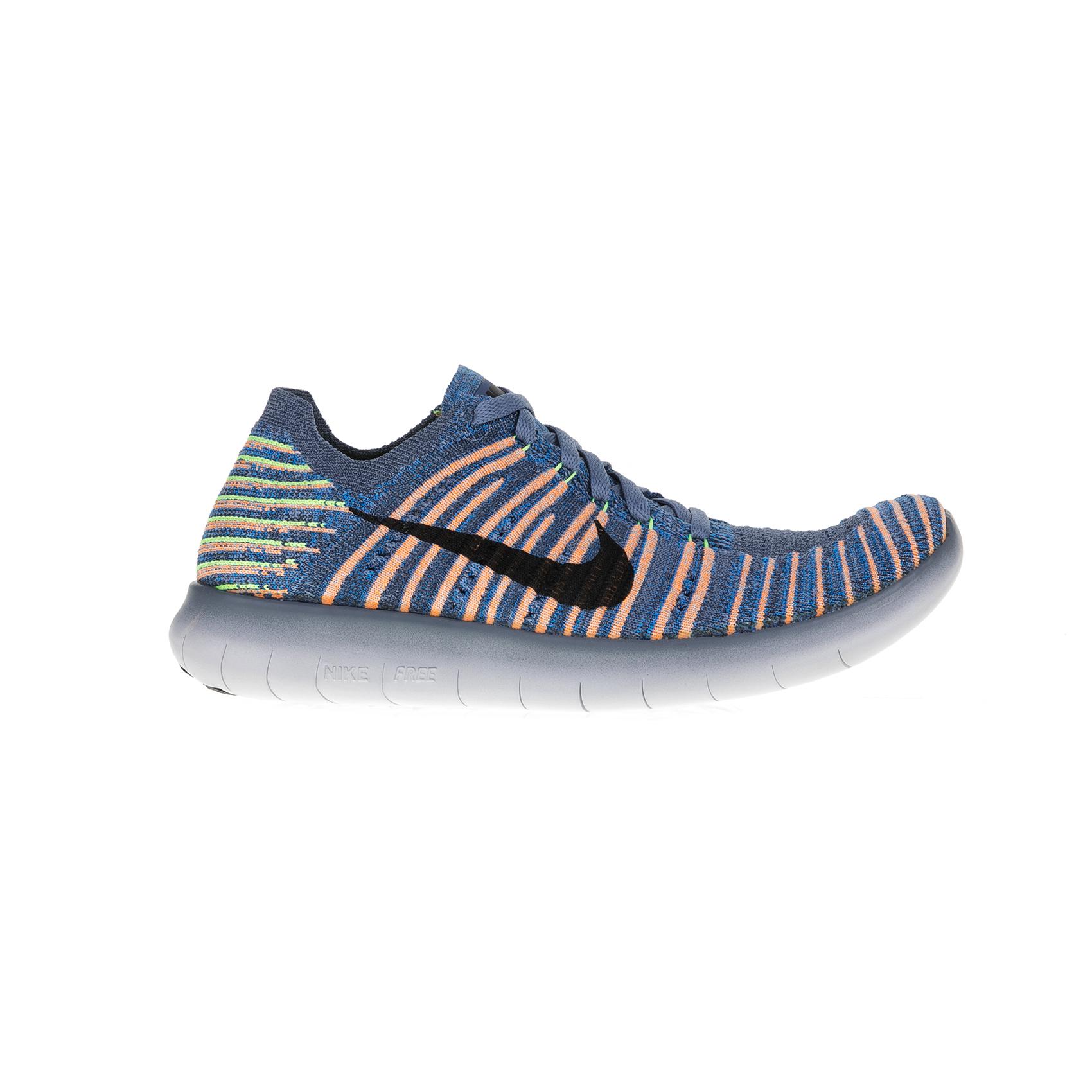 NIKE - Παιδικά αθλητικά παπούτσια Nike FREE RN FLYKNIT (GS) γκρι - πορτοκαλί