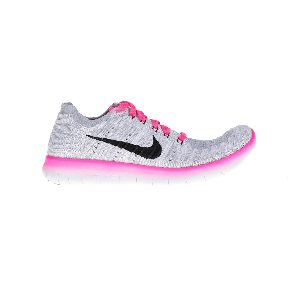 NIKE – Παιδικά παπούτσια NIKE FREE RN FLYKNIT γκρι-ροζ