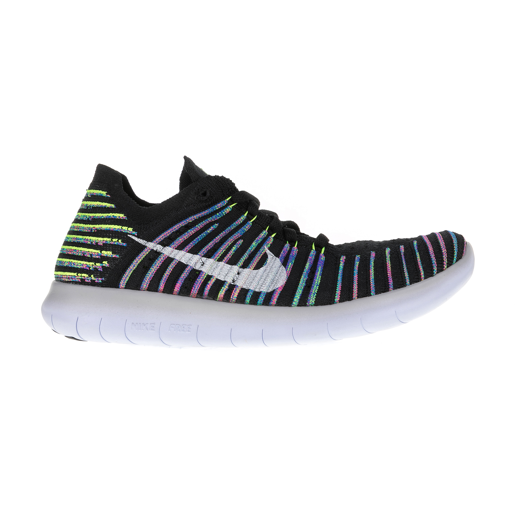 NIKE – Γυναικεία αθλητικά παπούτσια Nike FREE RN FLYKNIT μαύρα – πράσινα