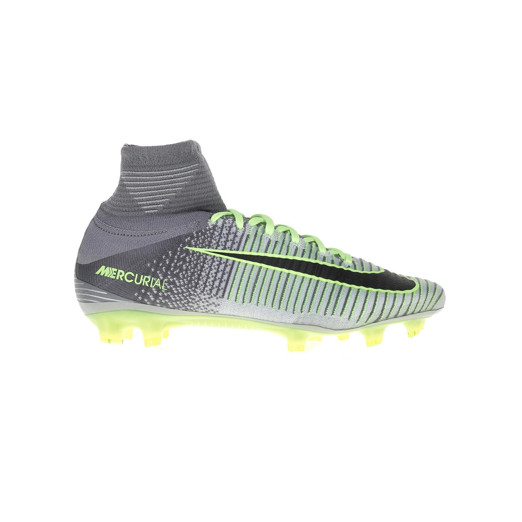 NIKE - Ανδρικά παπούτσια ποδοσφαίρου Nike MERCURIAL SUPERFLY V DF FG γκρι - πράσ ανδρικά παπούτσια αθλητικά football