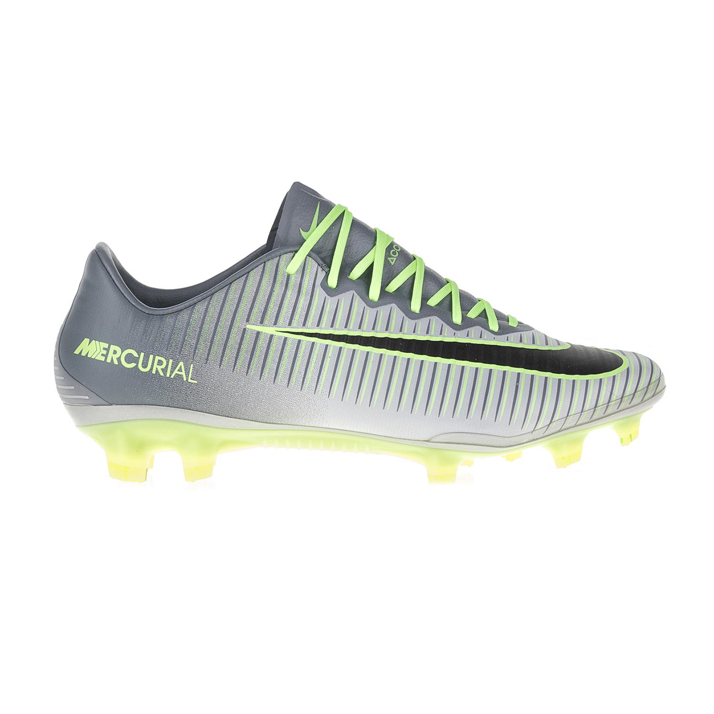 NIKE – Ανδρικά ποδοσφαιρικά παπούτσια ΝΙΚΕ MERCURIAL VAPOR XI FG γκρι-πράσινα