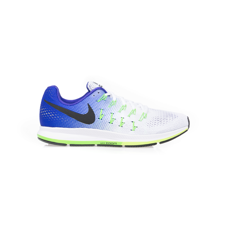 21dbcbf5e63 NIKE - Αντρικά αθλητικά παπούτσια NIKE AIR ZOOM PEGASUS 33 άσπρα-μπλε
