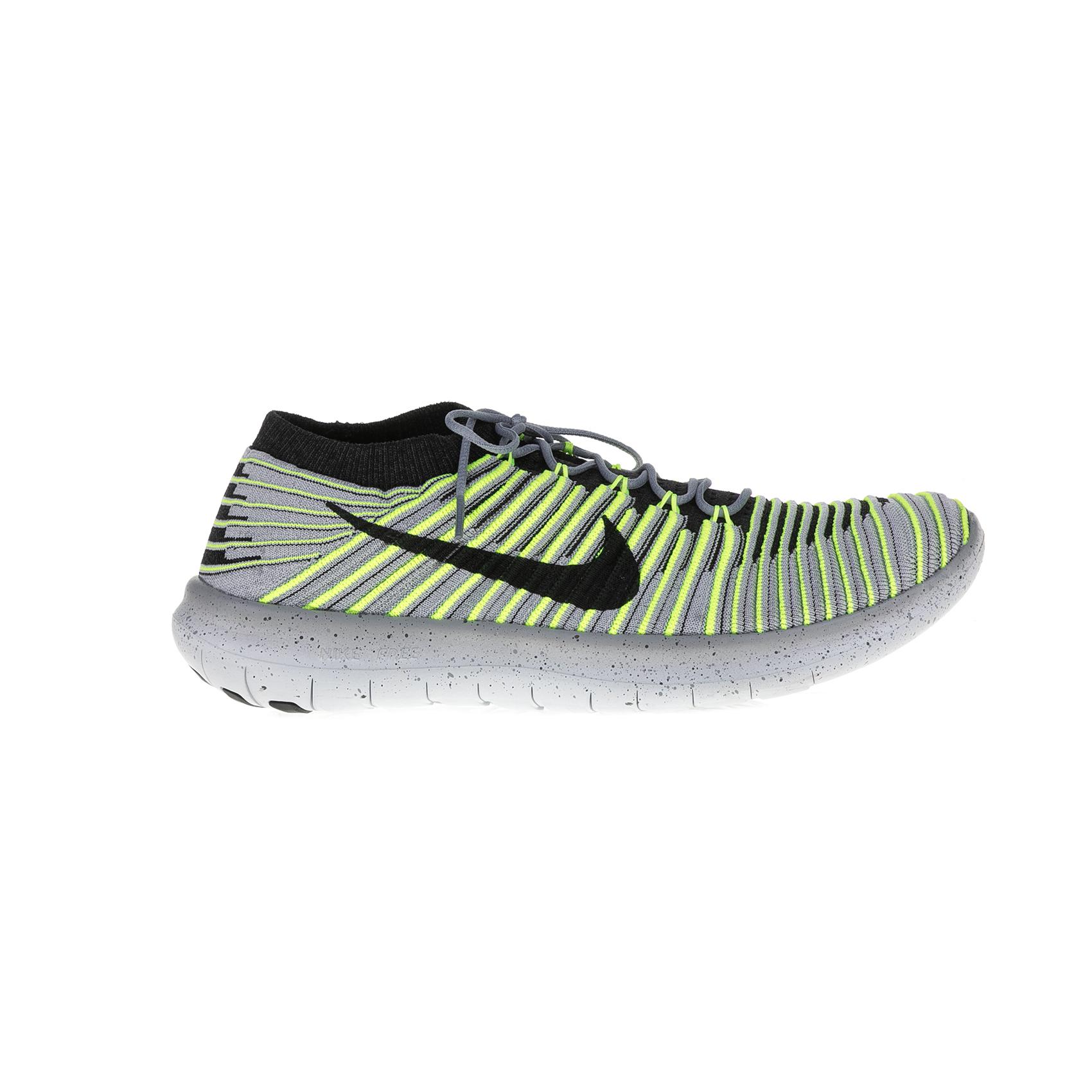 NIKE – Ανδρικά αθλητικά παπούτσια Nike FREE RN MOTION FLYKNIT γκρι – κίτρινα