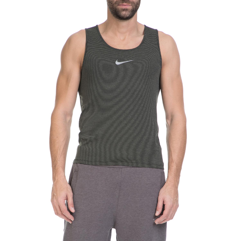 NIKE - Ανδρικό φανελάκι NIKE DF AEROREACT SINGLET μαύρο-γκρι ανδρικά ρούχα αθλητικά t shirt