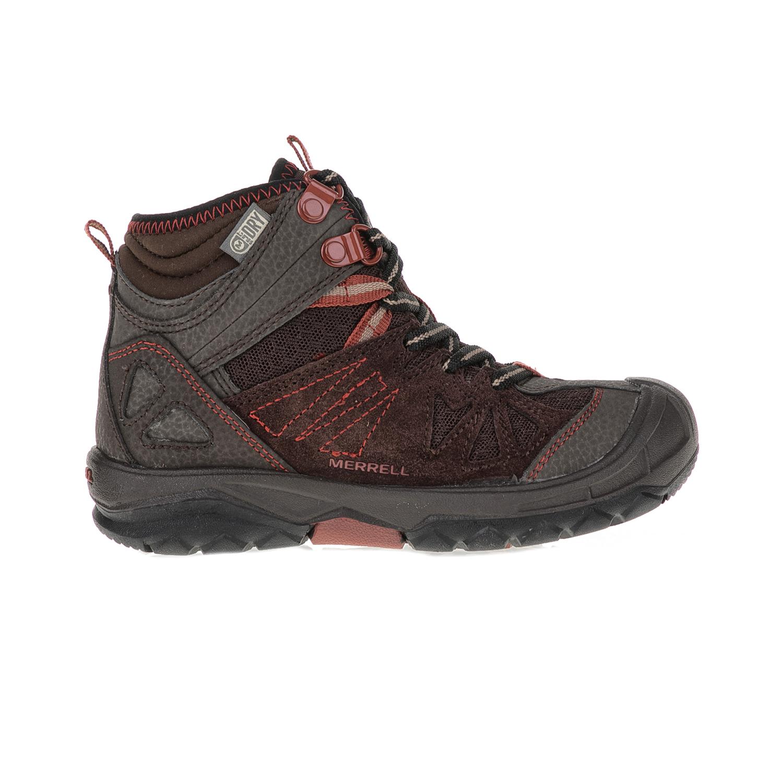MERRELL - Παιδικά παπούτσια Capra Mid MERREL καφέ παιδικά boys παπούτσια μπότες μποτάκια