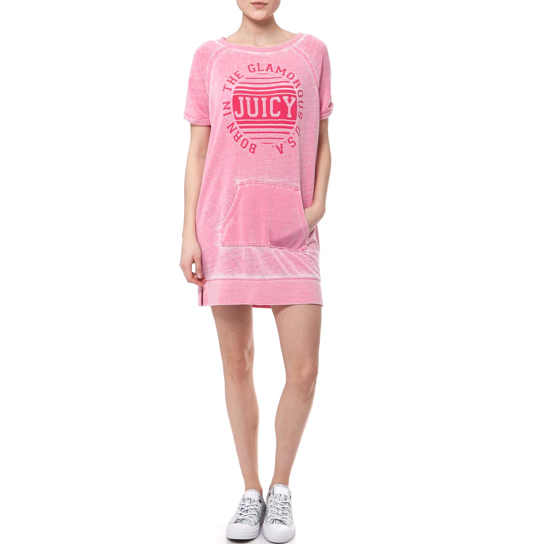 JUICY COUTURE - Γυναικείο φόρεμα Juicy Couture ροζ γυναικεία ρούχα φορέματα μίνι