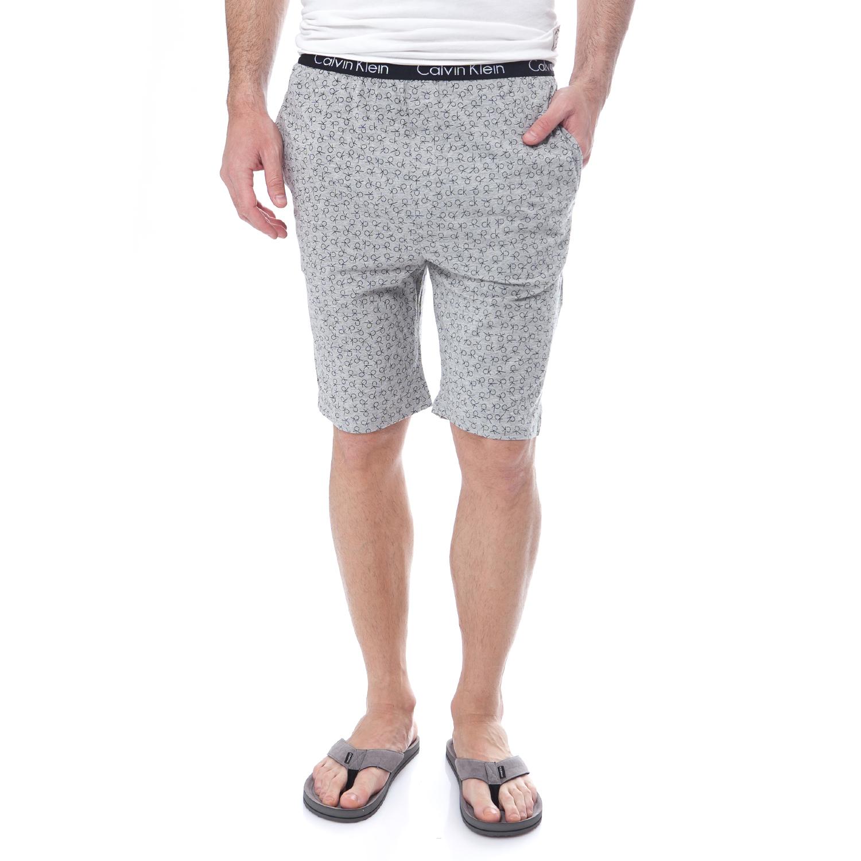 CK UNDERWEAR - Ανδρική πυτζάμα Calvin Klein γκρι ανδρικά ρούχα εσώρουχα πυτζάμες ρόμπες