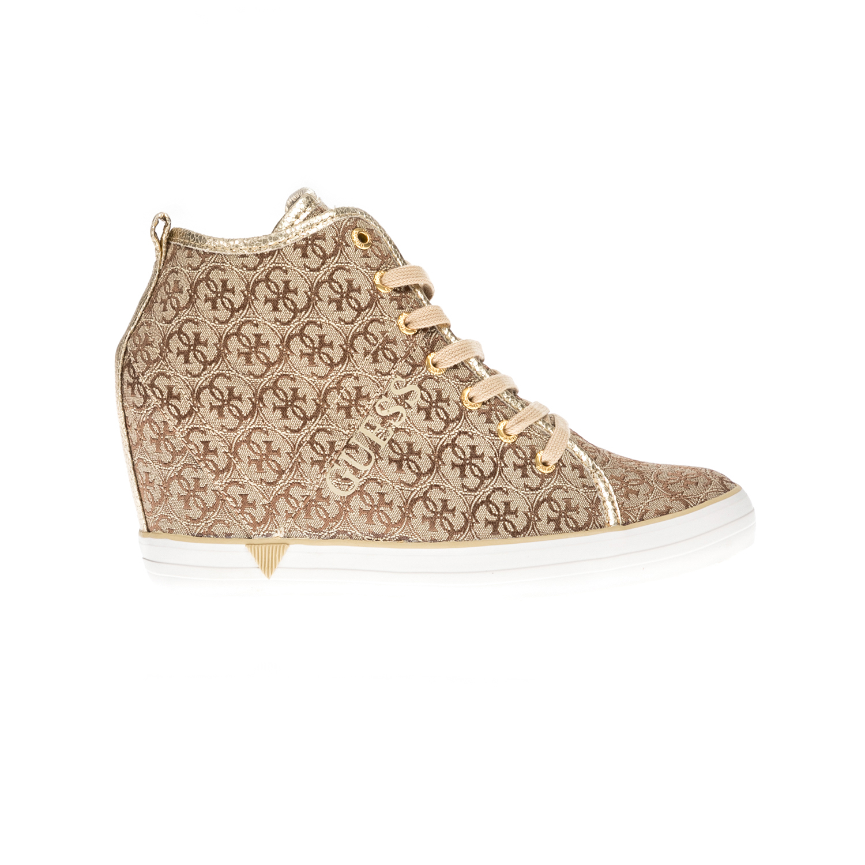 GUESS - Γυναικεία μποτάκια GUESS μπεζ γυναικεία παπούτσια sneakers
