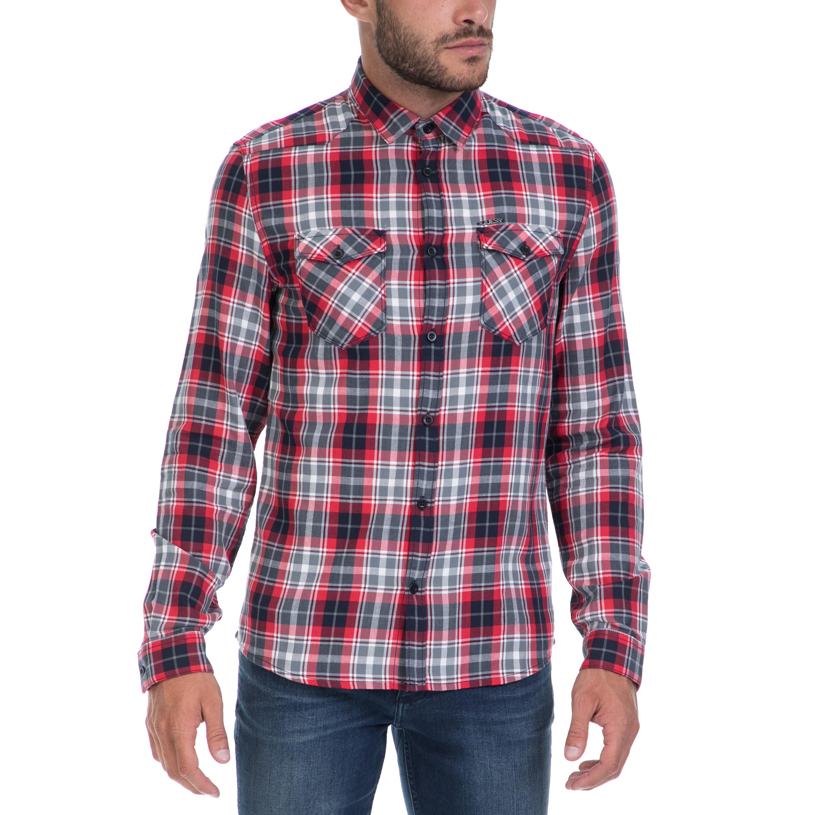GUESS – Αντρικό πουκάμισο GUESS καρό